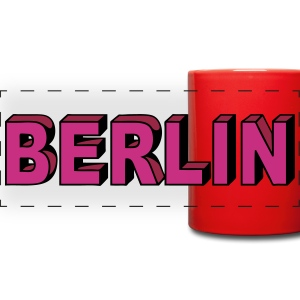 Berlin Block font Mugs & Drinkware - Full Color Panoramic Mug