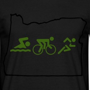 swim bike run T-Shirts - Men's T-Shirt