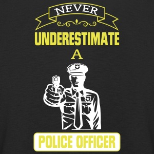 NEVER UNDERESTIMATE A COP! Long Sleeve Shirts - Kids' Premium Longsleeve Shirt
