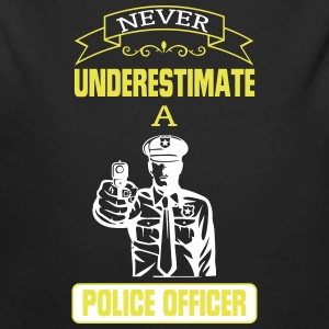 NEVER UNDERESTIMATE A COP! Baby Bodysuits - Longlseeve Baby Bodysuit