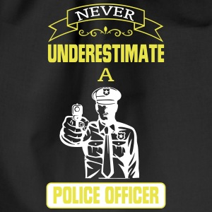 NEVER UNDERESTIMATE A COP! Bags & Backpacks - Drawstring Bag
