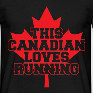 this canadian loves running T-Shirts - Men's T-Shirt