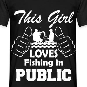 this girl fishing in public T-Shirts - Men's T-Shirt