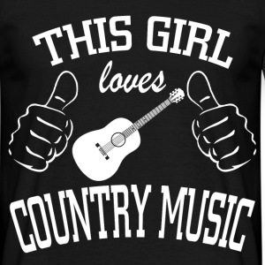 this girl loves country music T-Shirts - Men's T-Shirt