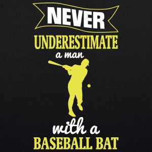 NEVER UNDERESTIMATE A MAN WITH NEM BASEBALL CLUB! Bags & Backpacks - EarthPositive Tote Bag