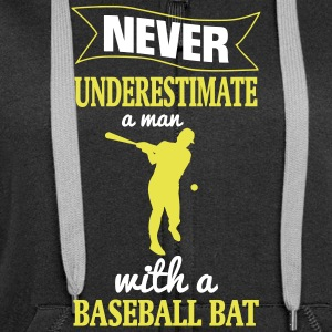 NEVER UNDERESTIMATE A MAN WITH NEM BASEBALL CLUB! Hoodies & Sweatshirts - Women's Premium Hooded Jacket