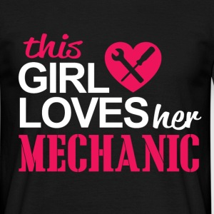 this girl loves her mechanic T-Shirts - Men's T-Shirt