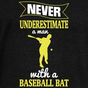 NEVER UNDERESTIMATE A MAN WITH NEM BASEBALL CLUB! Hoodies & Sweatshirts - Women's Boat Neck Long Sleeve Top