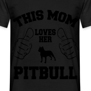 this mom loves her pitbull T-Shirts - Men's T-Shirt