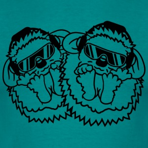 team buddies 2 pals brotherly duo party dj headpho T-Shirts - Men's T-Shirt