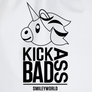SmileyWorld Kick Bad Ass - Drawstring Bag