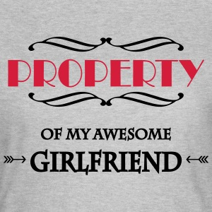 Property of my awesome girlfriend Camisetas - Camiseta mujer