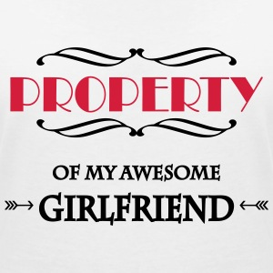 Property of my awesome girlfriend T-Shirts - Women's V-Neck T-Shirt