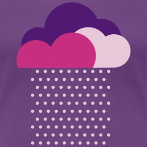 Purple clouds - colorful weather, rain, raindrops T-Shirts - Women's Premium T-Shirt
