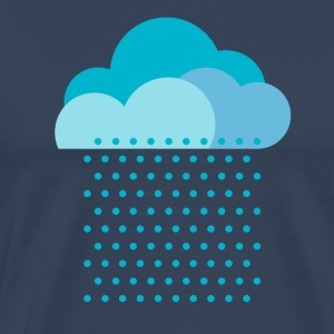 We love rain! weather, cloud, autumn, bike T-shirts - Mannen Premium T-shirt