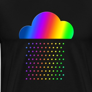 Colorful weather - we love rainbow rain! raindrop, T-Shirts - Men's Premium T-Shirt