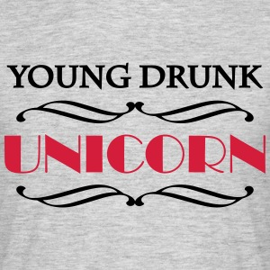 Young drunk unicorn Tee shirts - T-shirt Homme