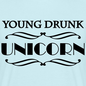 Young drunk unicorn T-Shirts - Männer T-Shirt