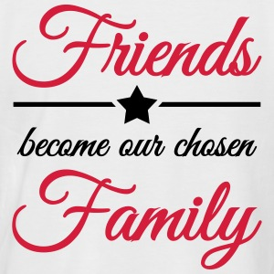 Friends become our chosen family Magliette - Maglia da baseball a manica corta da uomo