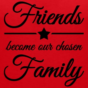 Friends become our chosen family T-Shirts - Frauen T-Shirt mit V-Ausschnitt
