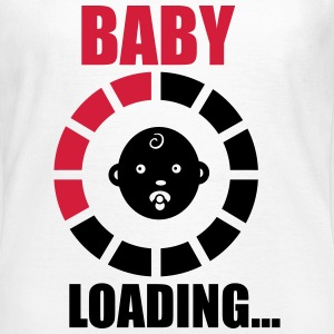 baby loading 2 T-shirts - Dame-T-shirt