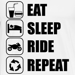eat sleep ride Tee shirts - T-shirt Premium Homme