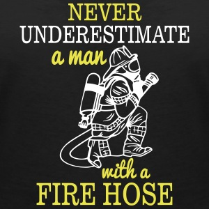 UNDERESTIMATE A MAN WITH NEM NEVER WATER HOSE T-Shirts - Women's V-Neck T-Shirt