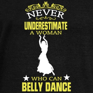NEVER UNDERESTIMATE A WOMAN WHO CAN BELLY DANCE! Hoodies & Sweatshirts - Women's Boat Neck Long Sleeve Top