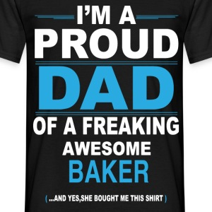 dad BAKER daughter T-Shirts - Men's T-Shirt