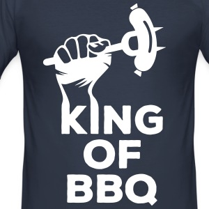 King of BBQ Grill grillen Grillmeister Wurst T-shirts - slim fit T-shirt