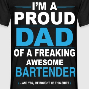 dad BARTENDER son T-Shirts - Men's T-Shirt