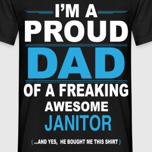 dad JANITOR son T-Shirts - Men's T-Shirt