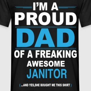 dad JANITOR daughter T-Shirts - Men's T-Shirt