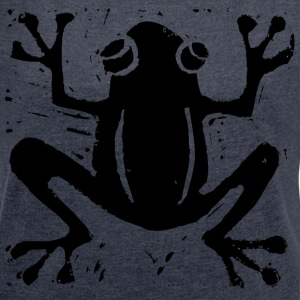 Crafty Wotnots Tree Frog T-Shirts - Women's T-shirt with rolled up sleeves