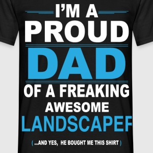 dad LANDSCAPER son T-Shirts - Men's T-Shirt