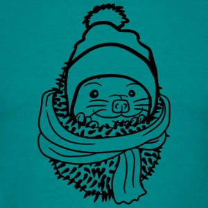 scarf hat cold freeze winter autumn warm baby cart T-Shirts - Men's T-Shirt