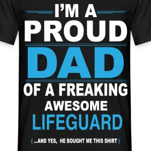 dad LIFEGUARD son T-Shirts - Men's T-Shirt