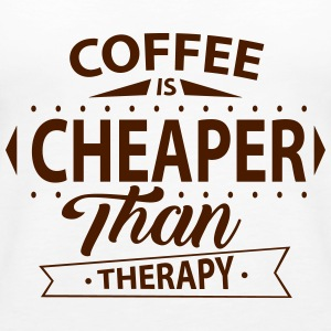 Coffee Is Cheaper Than Therapy Tops - Women's Premium Tank Top