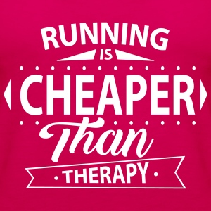 Running Is Cheaper Than Therapy Tops - Women's Premium Tank Top