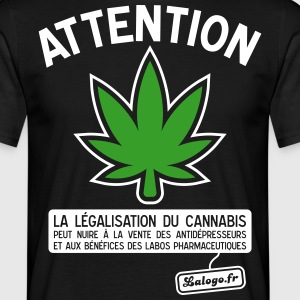 Attention cannabis !!! Tee shirts - T-shirt Homme