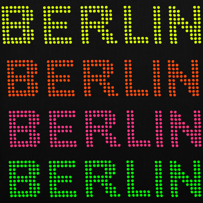 BERLIN Punktschrift in NEON