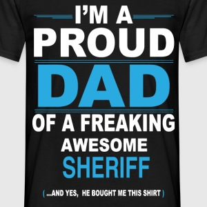 dad SHERIFF son T-Shirts - Men's T-Shirt