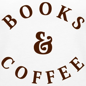 Books and Coffee Tops - Women's Premium Tank Top