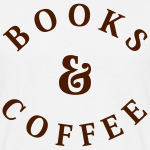Books and Coffee T-Shirts - Men's T-Shirt