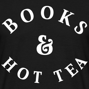 Books and Hot Tea T-Shirts - Men's T-Shirt