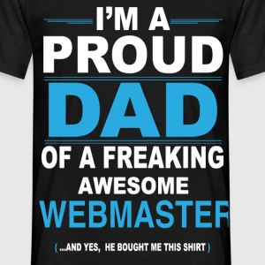 dad WEBMASTER son T-Shirts - Men's T-Shirt