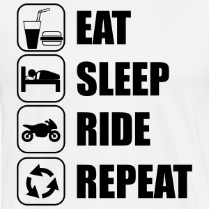 Eat,sleep,ride,repeat - Men's Premium T-Shirt