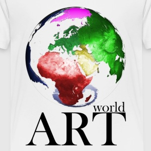 World Art schwarze Schrift T-Shirts - Kinder Premium T-Shirt