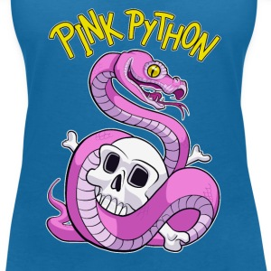 Pink Python T-Shirts - Women's V-Neck T-Shirt