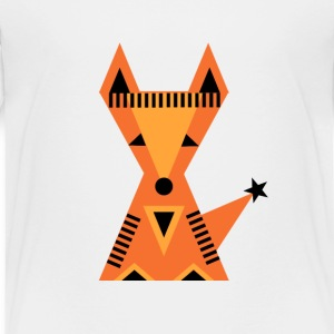 Little red fox, Kleine rode vos, bos, driehoek Shirts - Kinderen Premium T-shirt